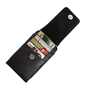 DooDa PU Leather Pouch Case Cover With Magnetic Closure For Lava Iris Alfa L