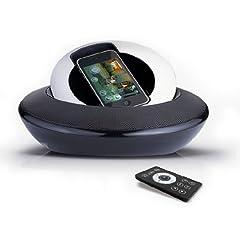 iUFO ドッキング型サウンドシステムスピーカー[IP099B-B] - OZAKI