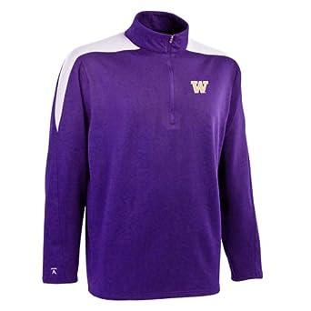 NCAA Washington Huskies Succeed Jersey Fleece Pullover Mens by Antigua