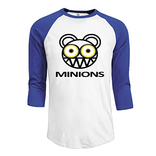 YOKO-Shirt-Camiseta-para-hombre-Azul-Azul-Real-XXL