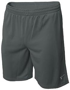 TREN Herren COOL Polyester Mesh Performance Short Sporthose mit Seitentaschen Dunkelgrau 020 - L