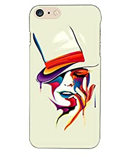 Crazymonk Premium Digital Printed 3D Back Cover For Apple I Phone 7