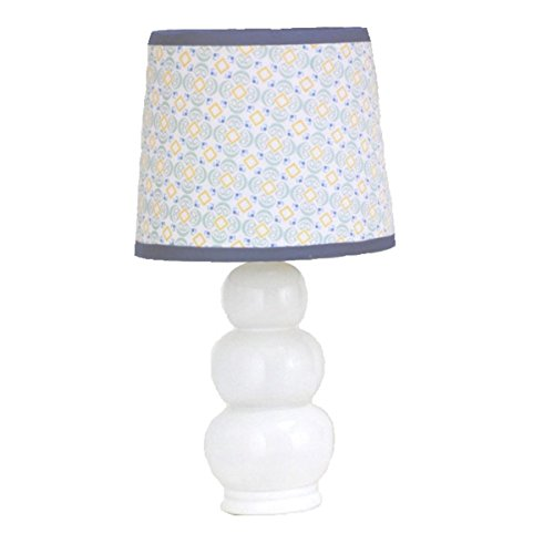 Petit Tresor Happy Animals Pattern Baby Boy Lamp with Shade Navy - 1