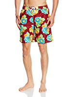 C.P.M. Short de Baño 3R51757 (Burdeos / Multicolor)