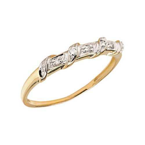 14K Yellow Gold Diamond Band Ring (Size 10.5)