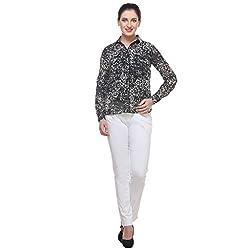 Varanga black/white print Printed Shirt KFAWWL1014-S_SMALL