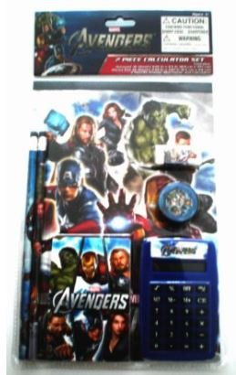 The Avengers 7 Piece Fun Calculator Set - School Supply Set