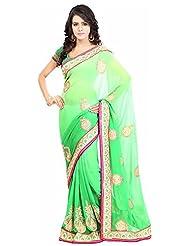 Bano Tradelink Women's Chiffon Saree(7026)