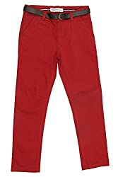 Poppers by Pantaloons Boy's Regular Fit Chinos ( 205000005616493, Brown, 9-10 Years)
