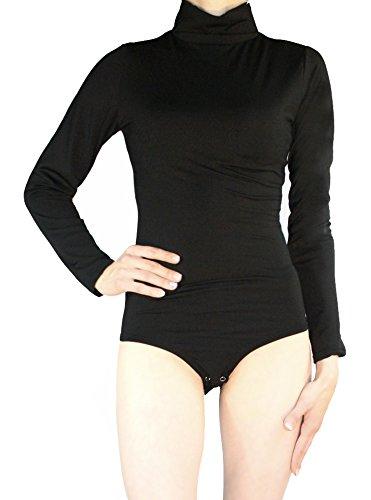Thermo Body a maniche lunghe da donna roll colletto Body elasticizzato L Body Suit Top diversi colori Taglia S M L nero M/44