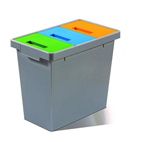 Mattiussi écologie PolyMax Mini Système modulaire, plastique, gris foncé, 49x 29x 42cm