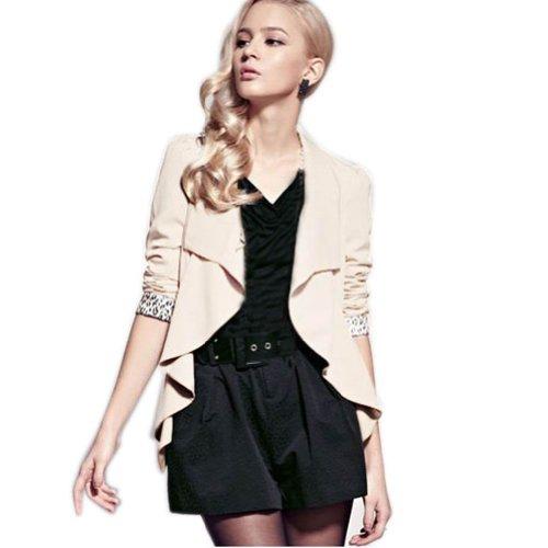 Zehui Korea Women Long Sleeve Lapel OL Casual Leopard Suits Blazer Short Coat Jacket