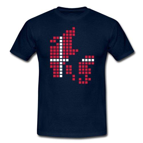 pixelland, Dänemark, Männer T-Shirt klassisch,