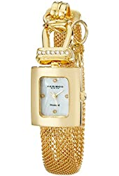 Akribos XXIV Women's AK510YG Mesh Wraparound Diamond Accented Quartz Watch