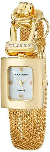 Akribos XXIV AK510YG Metal Case Metal Mineral Women's Watch