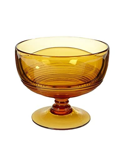 1950s Amber Compote Dish
