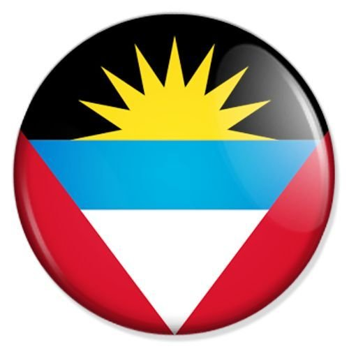 Button Flagge Antigua und Barbuda - Antigua und Barbuda Badge, Antigua und Barbuda Pin, Antigua und Barbuda Anstecker, Antigua und Barbuda Button, Antigua und Barbuda Ansteckpin