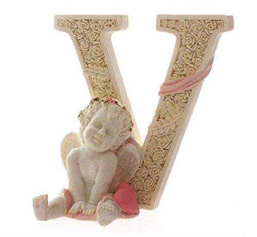 Set of 4 Decorative Angel Figurine Cherub Figurine Statue Pink Heart LOVE Figurine Home Wedding Collectible Figurine Christmas Gift