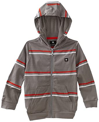 DC Apparel - Kids Little Boys' Wormser  Hoodie Sweater, Monument, 5/Small