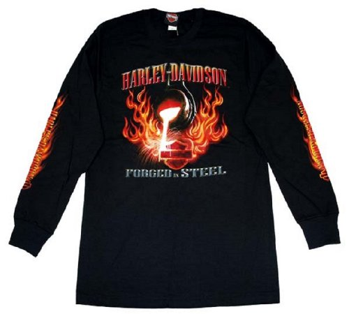 Harley-Davidson® Men's Long Sleeve Forged Steel T-Shirt. House of Harley-Davidson, Milwaukee, USA on Backside. All Coton. R784403030