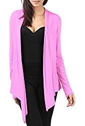 Thanth Womens Draping Long Sleeve Jersey Open Cardigan