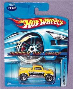 Hot Wheels Yellow HUMMER H3T CONCEPT Die Cast #173 - 1