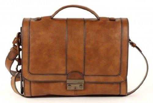 Billiger damen leder Handtaschen FOSSIL WOMEN BAG WOMAN VRI FLAP WITH LOCK CAMEL ZB4903235