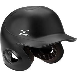 Mizuno MBH600 6-6 3/4-Inch Prospect Batter's Helmet (Black)