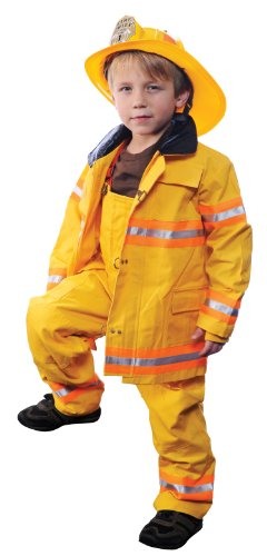 Jr. Firefighter Suit with Helmet Halloween Costume - Toddler Size 2-3