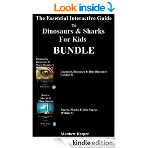 The Essential Interactive Guide To Dinosaurs & Sharks For Kids Bundle