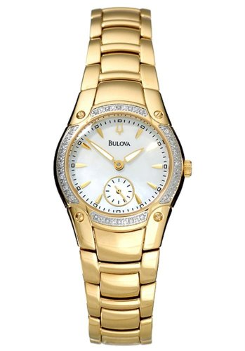 Bulova Women's 98W06 Diamond Accented Mother Of Pearl Watch