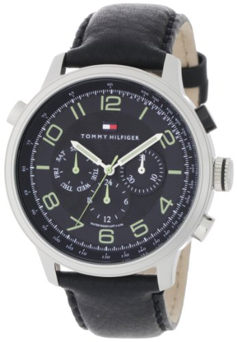 Tommy Hilfiger Men's 1790768 Sport Black Strap with Subdials Watch