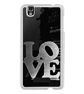 Love 2D Hard Polycarbonate Designer Back Case Cover for YU Yureka :: YU Yureka AO5510