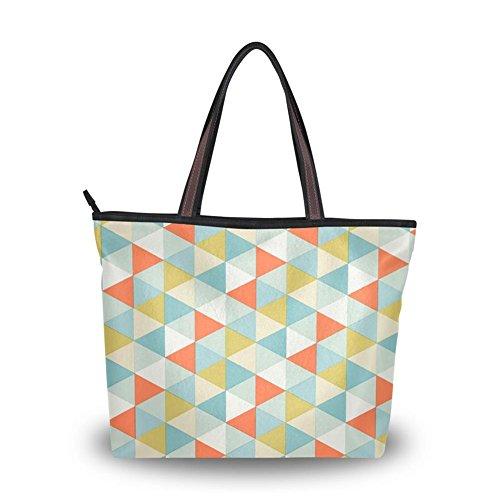 Yuihome A Dizzy kaleidoscope Printing Personality Design Portability Zipper Lady Tote bag handbag (Dizzy Rain Boots compare prices)