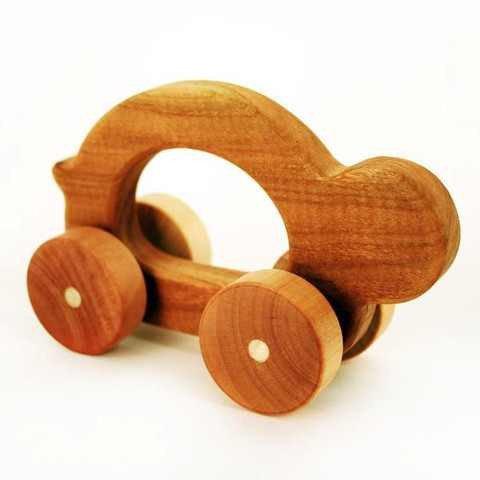 Tree Hopper Wooden Hand Made Hopper Jalopy Shelly - 1