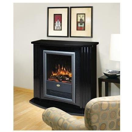 Learn More About Electrolog by Dimplex Electraflame Mozart Electric Fireplace in Gloss Black