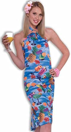 Click to buy Forum Happy Hour Adult Women Luau Party Dress Tourist Costume from Amazon!
