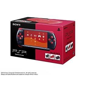 PSP「プレイステーション・ポータブル」バリューパック ブラック/レッド(PSPJ-30017)