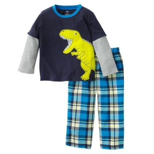 Carter'S Boys 2 Pc Jersey Pjs Set Dinosaur Plaid (6 Months) Color: Blue Size: 6 Months Newborn, Kid, Child, Childern, Infant, Baby front-533123