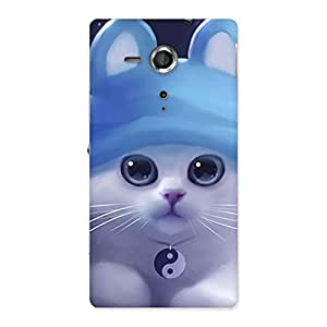 Enticing Tie Chi Cat Multicolor Back Case Cover for Sony Xperia SP