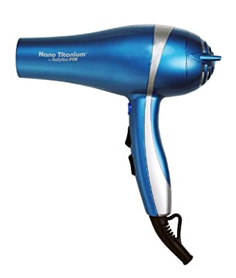 Babyliss Pro BABNT5548 2000 Watt Ionic Nano Titanium with Integrated Ion Generator Hair Dryer by BaBylissPro