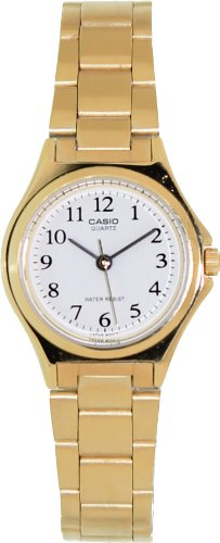 LTP1130 3-Hand Analog Ladies Fashion White Face Gold Metal Band Watch
