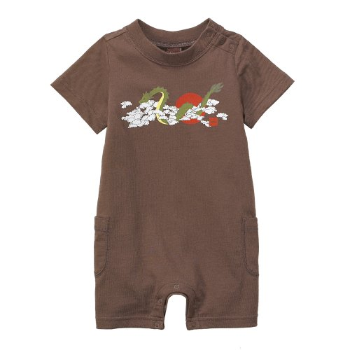 Tea Collection Flying Dragon Romper, Cocoa, 6-12 Months