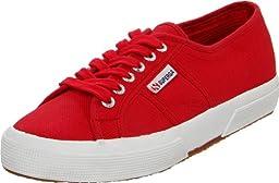 Superga Unisex 2750 Cotu Classic Fashion Sneaker, Maroon Red, 35 EU/Womens 5 M US