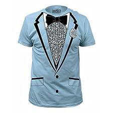 Impact Original Retro Prom Tuxedo Light Blue T-Shirt