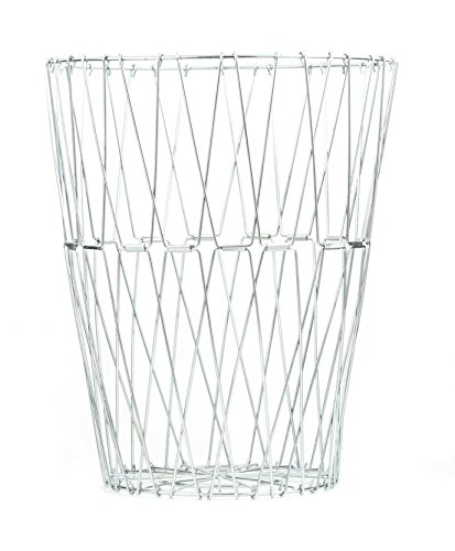 kikkerland-large-galvanized-stainless-steel-folding-wire-basket