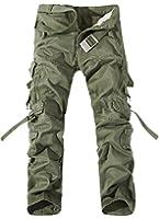TDOLAH Herren Stretch Cargo-Hose Jeans ohne Gürtel Armee Camo Schwarz