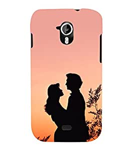 Romantic Couple Cute Fashion 3D Hard Polycarbonate Designer Back Case Cover for Micromax Canvas HD A116 :: Micromax A116 Canvas HD