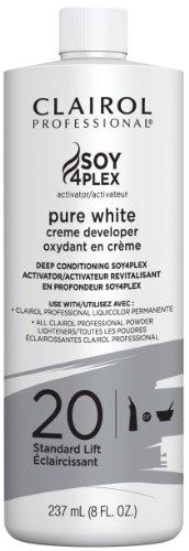 Clairol Professional Soy4plex Pure White Creme Hair Color Developer, 20 Volume