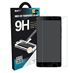 MTT Premium Tempered Glass For One Plus Two